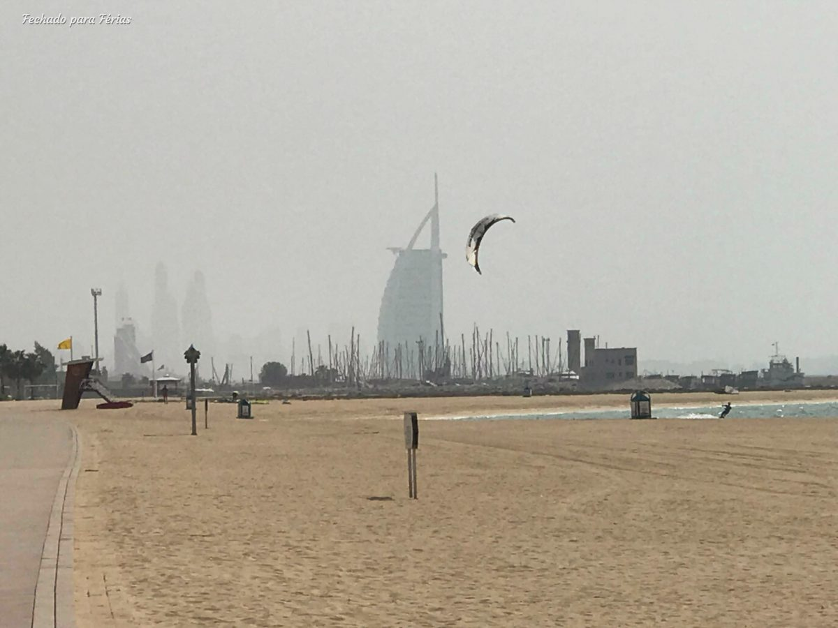 Burj Al Arab visto da Kite Beach